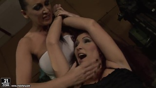 BDSM lesbian action with Mandy Bright and Pop Anca image