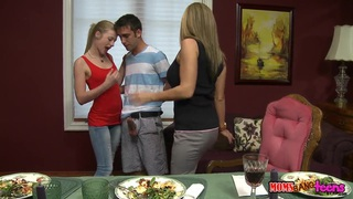 Avril Hall and her boyfriend loving the threesome with her mom Logan Pierce image