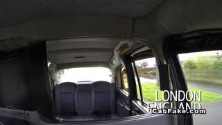 Image: Czech blonde bangs in British fake taxi