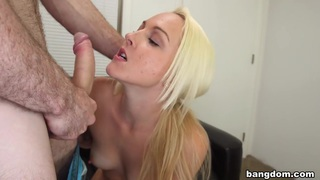 Blonde shoots her first porno and gets a... image