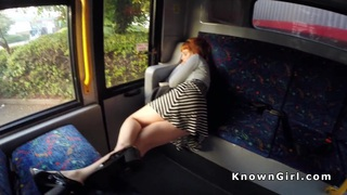 Hirsute redhead_amateur teen banging in_the bus image