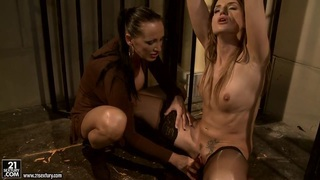 Image: Andy Brown and Mandy Bright in prison have dildo fuck