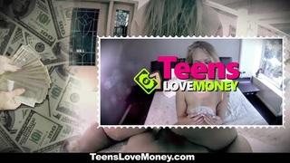 TeensLoveMoney - Cute Brunette Fucks In Public For Extra Cash image