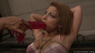 Many_Bright_hot_lesbian_force_dildo_fuck_a_hot_babe image