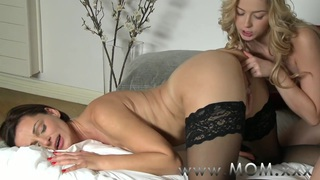 MOM Lesbian MILF makes love to her girlfriend image