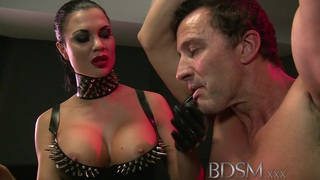 BDSM XXX Slave boy gets anal attention from Mistress image