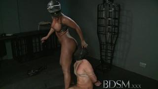BDSM XXX Caged slave boy gets hardcore treatment image