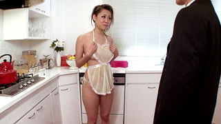Image: Girl Housewife Begs For Cum In The Kitchen