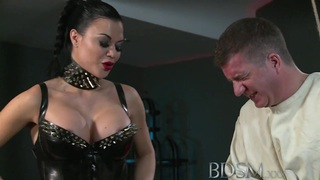 BDSM XXX Slave straight jacket and anal hook image