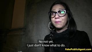 Real cocksucking_spanish babe creampied image