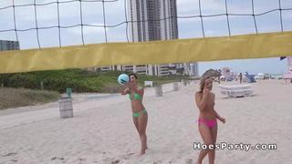 Sexy amateur teen flashing at beach image