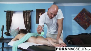 Eve gets fucked after hot boob rub and pussy massage image
