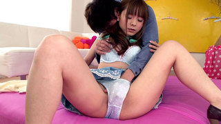 Exotic Japanese Girl Fucks And Squirts image