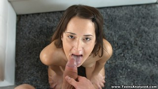 Young couple does first anal and facial image