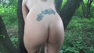 Willa in amateur girl sucks and fucks in a forest image