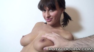 Cute Czech puts her beautiful boobs to work image