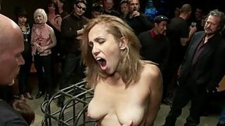 Group tormenting for a breasty ravishing slave image