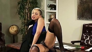 Sexy blonde_office girl_Selena Rose pounded on the desk image