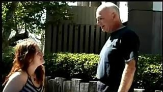 Teen Fucked Outside By An Old Guy image