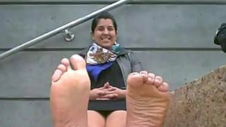 Image: Indian Girl Shows Off Her Feet
