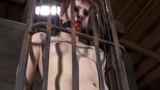 Image: Babe is tying up sweet babe for punishment session