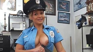 Sexy Cop Sucking Dick In Back Office Of Pawn Shop image