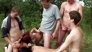 Image: Hard BiSex perverted party in the forest