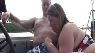 BBW Gives A Blowjob On_A Boat image