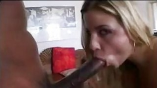 Blonde With Two Big Black Dicks image