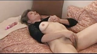 Old Woman Rubbing Her Pussy image