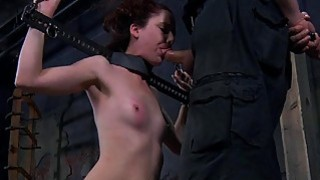 Lusty caning for tough chick image