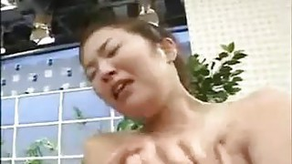 Busty Japanese Girl Played With image