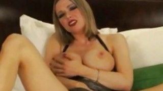Image: Busty amateur blonde milf finger her pussy and show us her nice tits