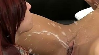 Pissing and dildoing for Leila Smith and Lollypop image