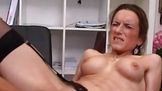 Image: Horny milf fisted ass fucked and jizzed in her fac