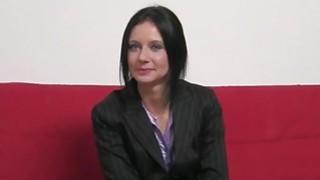 Amateur slut Enza gets fucked at the casting image