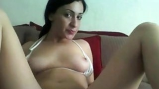 Teen with sexy body masturbation at home image