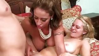 Stepmom Eva joins Ali in threesome sex image