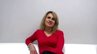 Czech MILF fucked during casting image