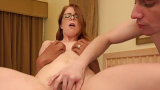 Redhead Wife Makes Her Husband Suck Black Cock image