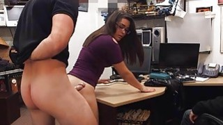 Couple girls trying to steal at the pawnshop and get fucked image