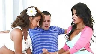 Busty milf Bianka 3some with teen couple image