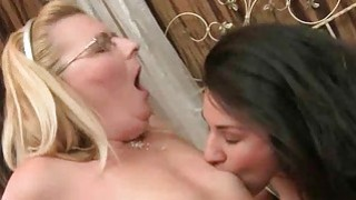 Grannies and Cute Teens Lesbian_Love Compilation image