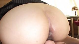 Japan_office_lady_bottomless_facesitting_farting - booty fart worship image