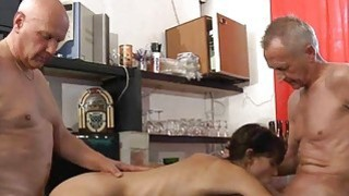 Image: Xxx rimming anal and cuminmouth in old young 3som