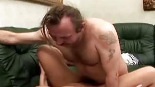 One legged man fucks a gorgeous redhead caregiver image