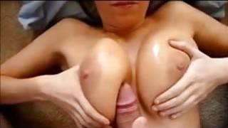 Image: Cumming on_her Big Milf Tits