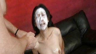 Mei Lee rides on meanest dick in porn image