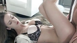 Image: Glamour babe Stella Cox pussy wrecked