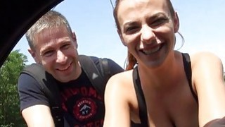 Hanna Sweet and BF fucking at the back of strangers car image